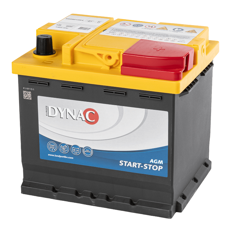 Dynac AGM Start-Stop Auto Accu 12V 50Ah