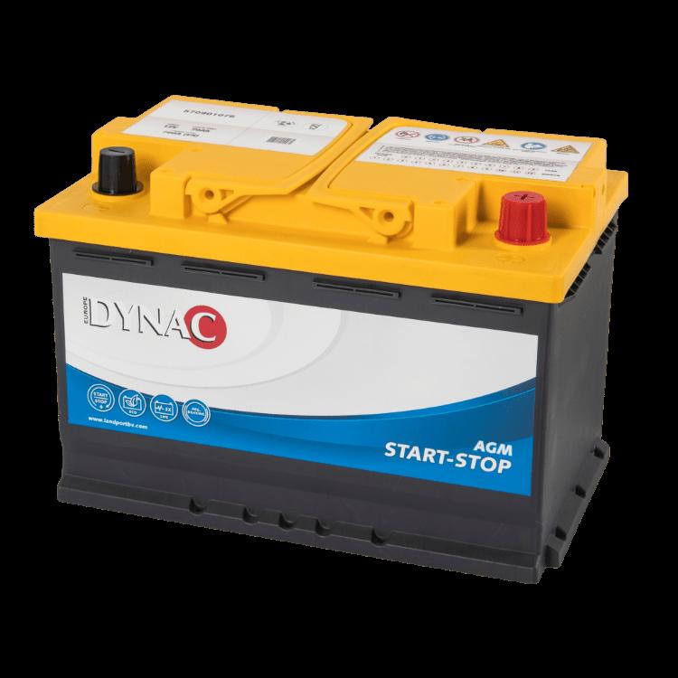 Dynac AGM Start-Stop Auto Accu 12 V 70Ah