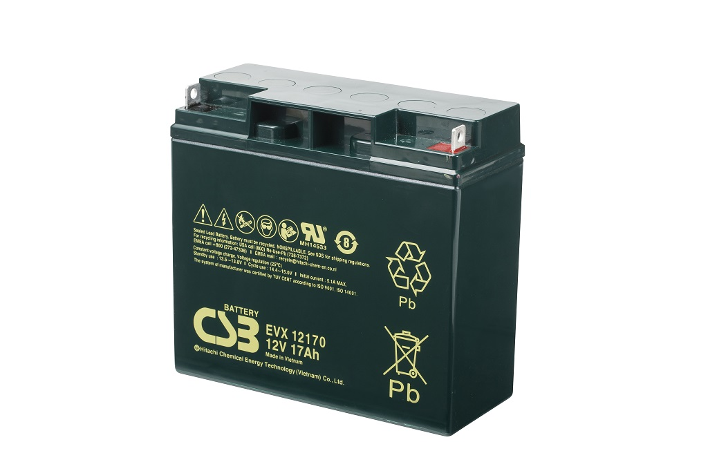 Deep cycle AGM loodaccu 12V 17Ah EVX12170 B1 van CSB Battery