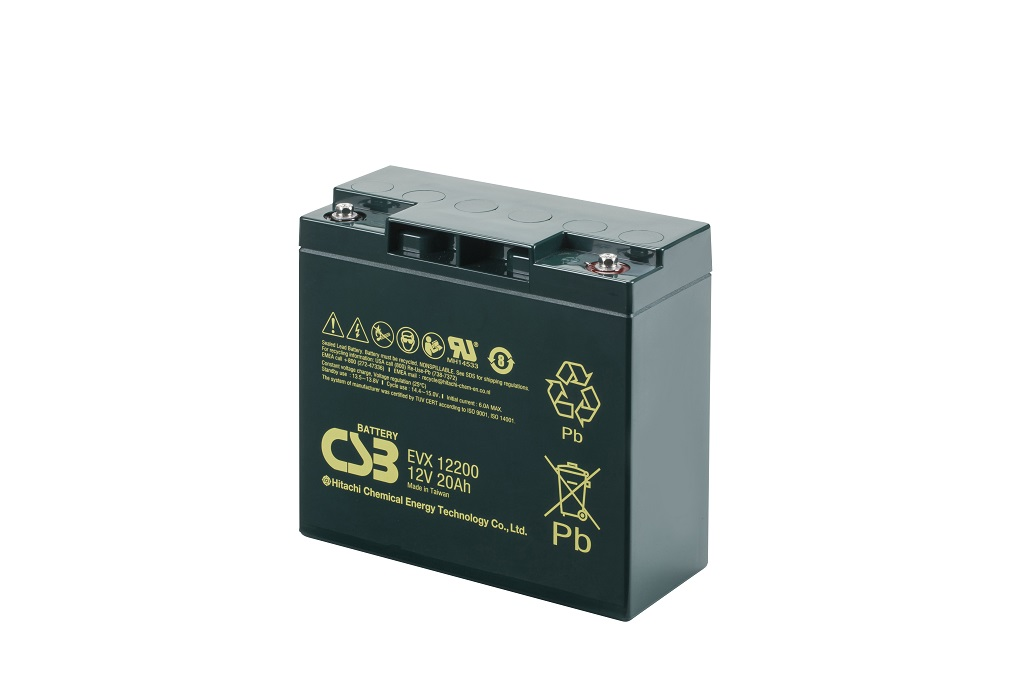 Deep cycle AGM loodaccu 12V 20Ah EVX12200 van CSB Battery