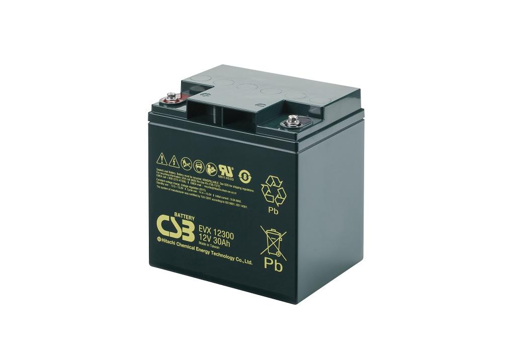 Deep cycle AGM loodaccu 12V 30Ah EVX12300 van CSB Battery