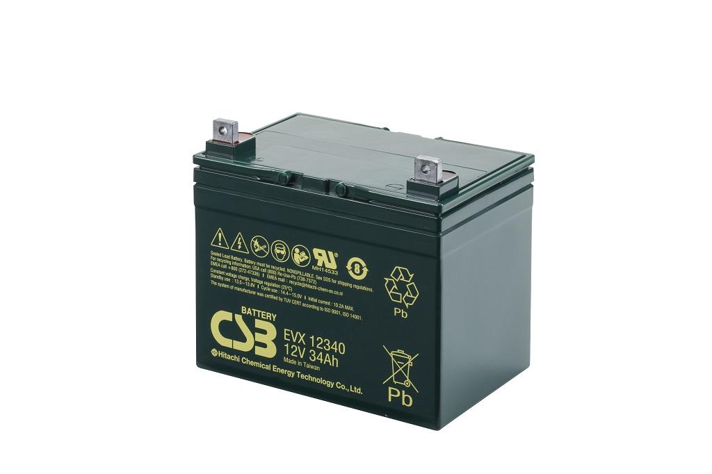 Deep cycle AGM loodaccu 12V 34Ah EVX12340 van CSB Battery