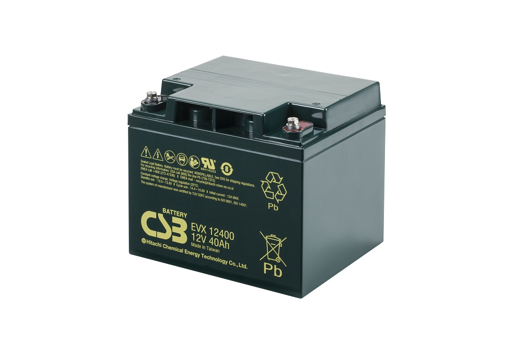 Deep cycle AGM loodaccu 12V 40Ah EVX12400 van CSB Battery