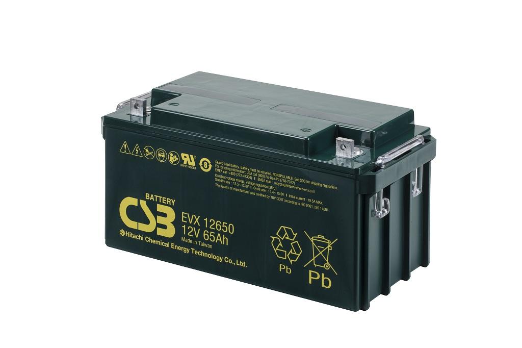 Deep cycle AGM loodaccu 12V 65Ah EVX12650 van CSB Battery