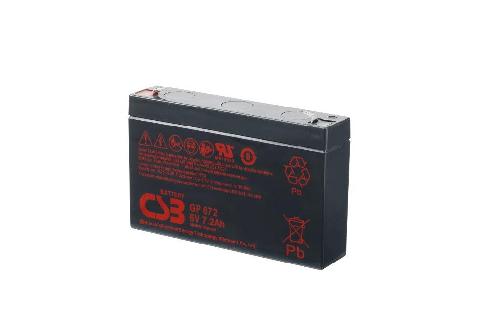 GP672 van CSB Battery AGM loodaccu 6V 8,4Ah