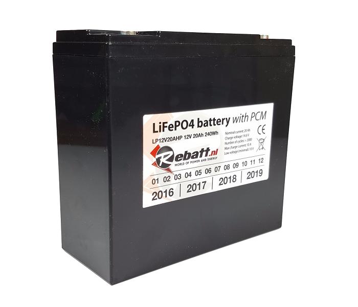 LiFePO4 accu 12V 20Ah voor Golftrolley / Caddy (inclusief Lader)