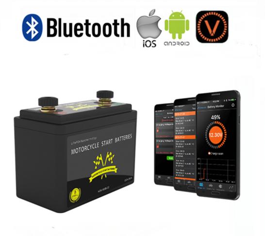 LiFePO4 Lithium Startaccu 12V 260CCA met APP Bluetooth
