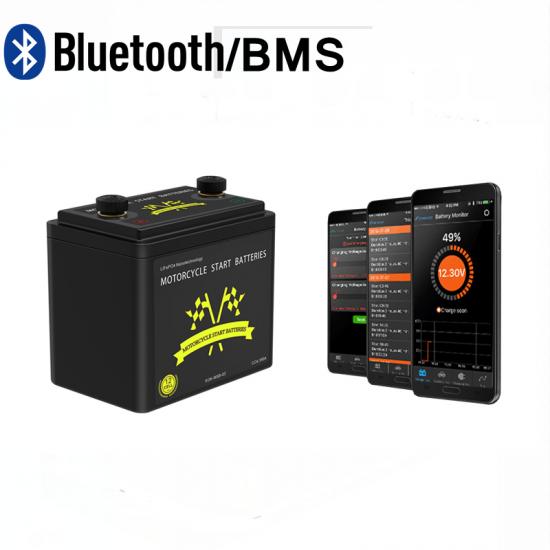 LiFePO4 Lithium Startaccu 12V 390CCA met APP Bluetooth