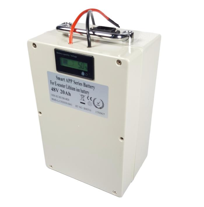 Lithium accu 48V 20Ah (13S) met APP inclusief lader
