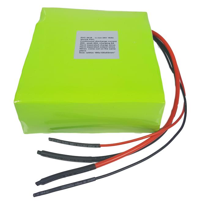 Li-ion batterijpack 24V 15Ah