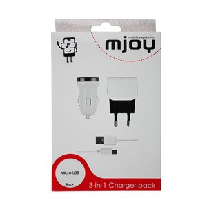 MJOY Micro USB 3-in-1 Charger Pack 1 Ampere Black