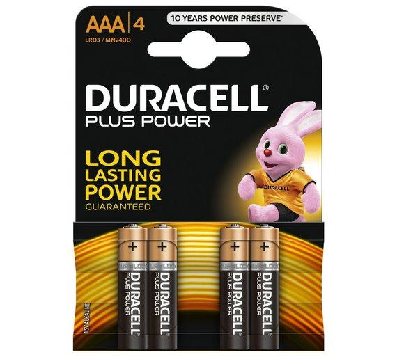Duracell MN2400 Plus AAA (4 stuks)