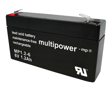 Multipower MP1.2-6 Loodaccu (6V 1200mAh)