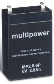Multipower  MP2.8-6P Loodaccu (6V 2800mAh)