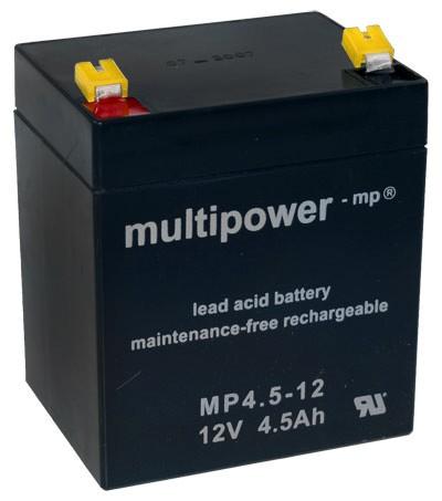 Multipower MP4.5-12 Loodaccu (12V 4500mAh)