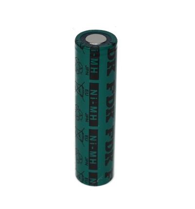 NiMH batterij 4/3FAU 1,2V - 4500mAh van sanyo met soldeerlippen