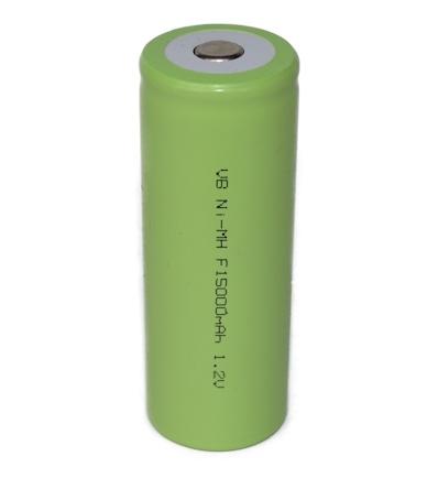 NiMH F batterij 1,2V - 15000mAh ( met soldeerlippen )