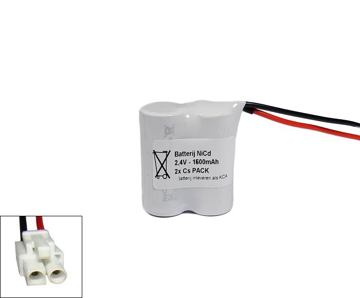 Noodverlichting accu Saft/Arts NiCd 2,4V 1600mAh Cs 2SBS - Philips aansluiting