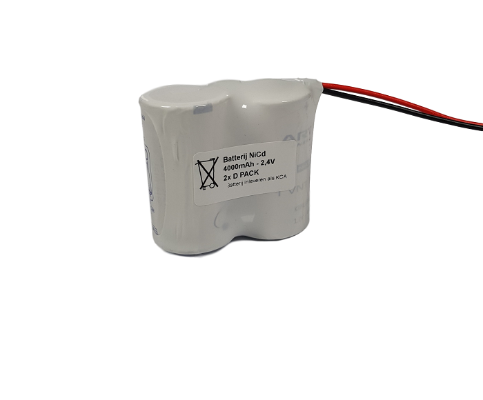 Noodverlichting accu Saft/Arts NiCd 2,4V 4000mAh D 2SBS - Draadaansluiting