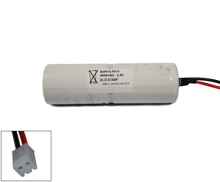 Arts Energy (Saft) NiCd 2,4V 4000mAh 2xD VNT staaf met S06 aansluiting