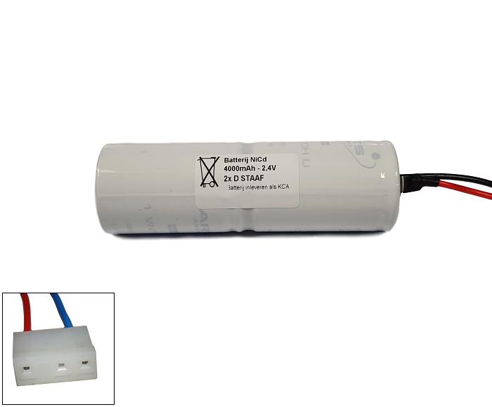 Arts Energy (Saft) NiCd 2,4V 4000mAh 2xD VNT staaf met S03 aansluiting