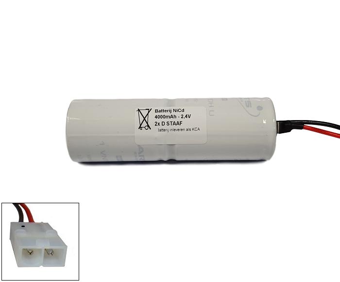 Arts Energy (Saft) NiCd 2,4V 4000mAh 2xD VNT staaf met S01 aansluiting