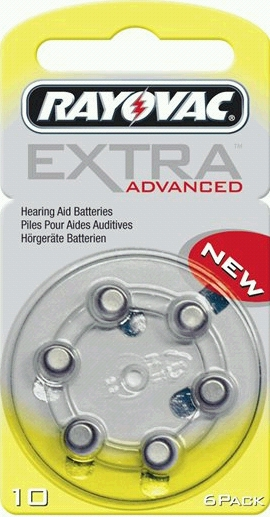 Rayovac Extra Advanced 10 AU-6XE hoortoestel batterijen