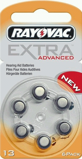 Rayovac Extra Advanced 13 AU-6XE hoortoestel batterijen