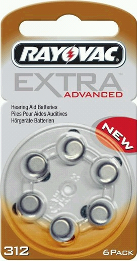 Rayovac Extra Advanced 312 AU6XE hoortoestel batterijen