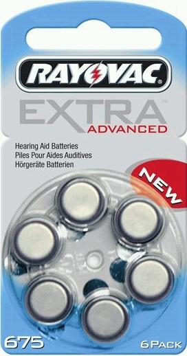 Rayovac Extra Advanced 675 AU-6XE hoortoestel batterijen