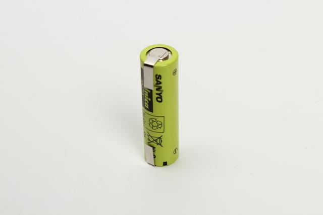 Sanyo/Panasonic Batterij KR-1100AAU 1,2V 1100mAh ( met soldeerlippen )