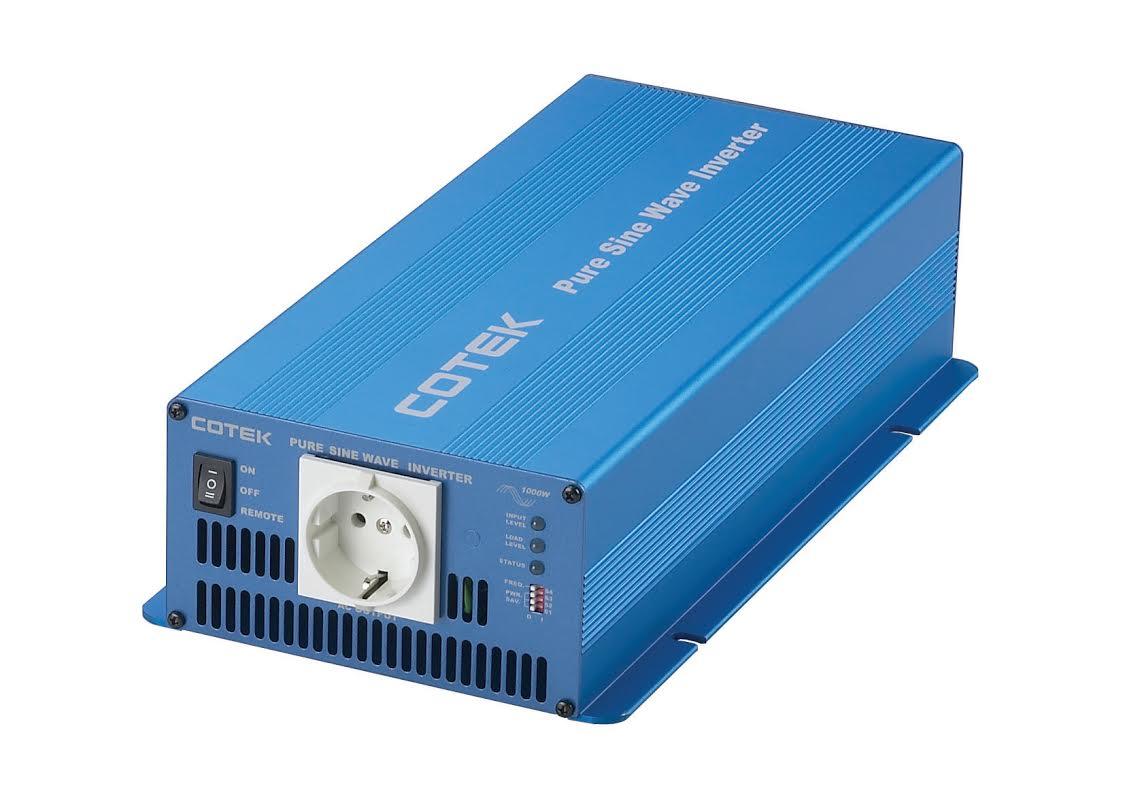 Professionele Cotek Zuivere Sinus Omvormer 12V - 1000W