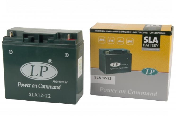 SLA 12-22 motor accu Landport 12V 22Ah