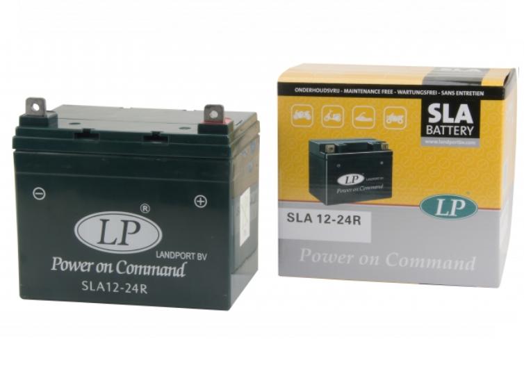 SLA 12-24R motor accu Landport 12V 24Ah