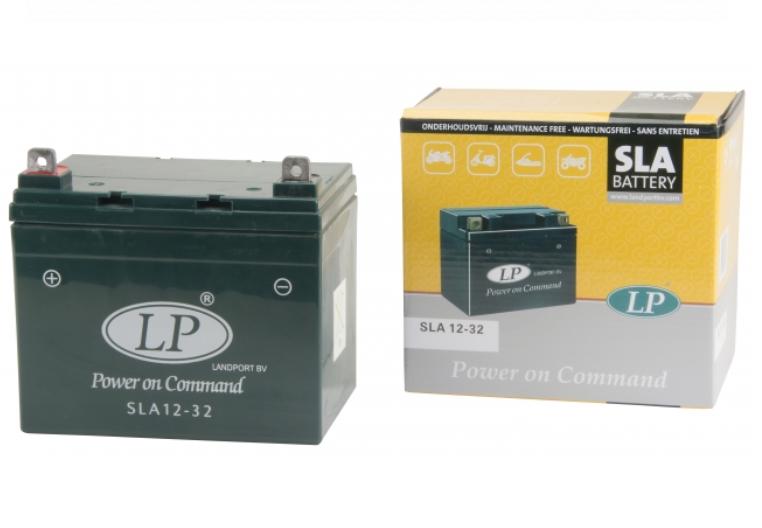 SLA 12-32 motor accu Landport 12V 32Ah