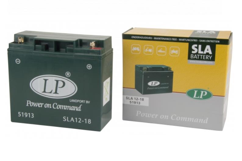 SLA 12-18 motor accu Landport 12V 18Ah