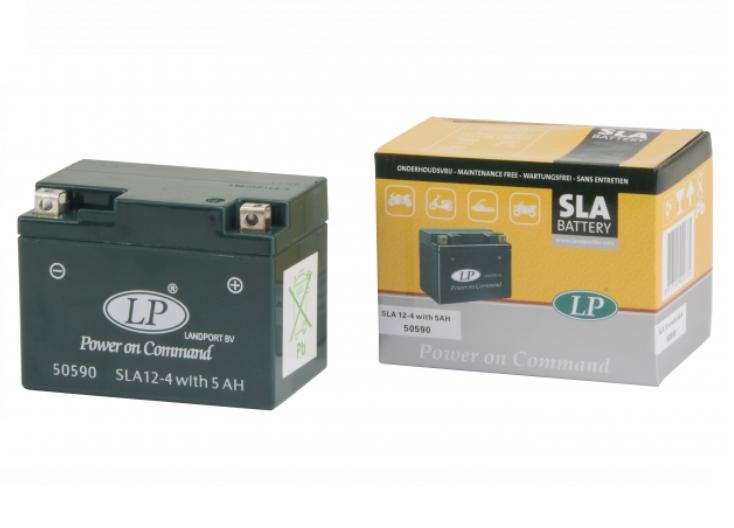 SLA 12-4S motor accu Landport 12V 5Ah