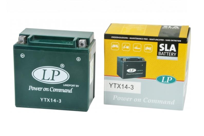 SLA YTX14-3 motor accu Landport 12V 12Ah