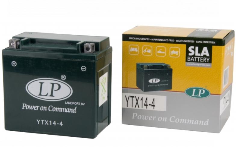 SLA YTX14-4 motor accu Landport 12V 12Ah