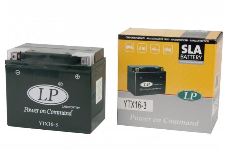 SLA YTX16-3 motor accu Landport 12V 19Ah