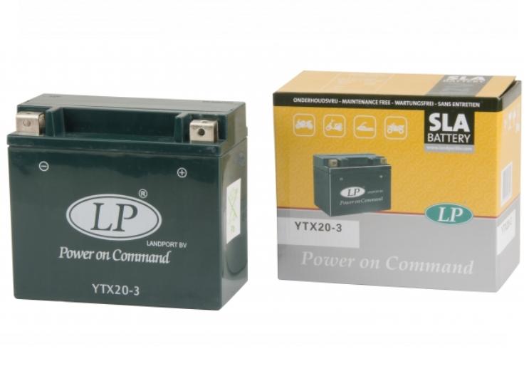SLA YTX20-3 motor accu Landport 12V 18Ah