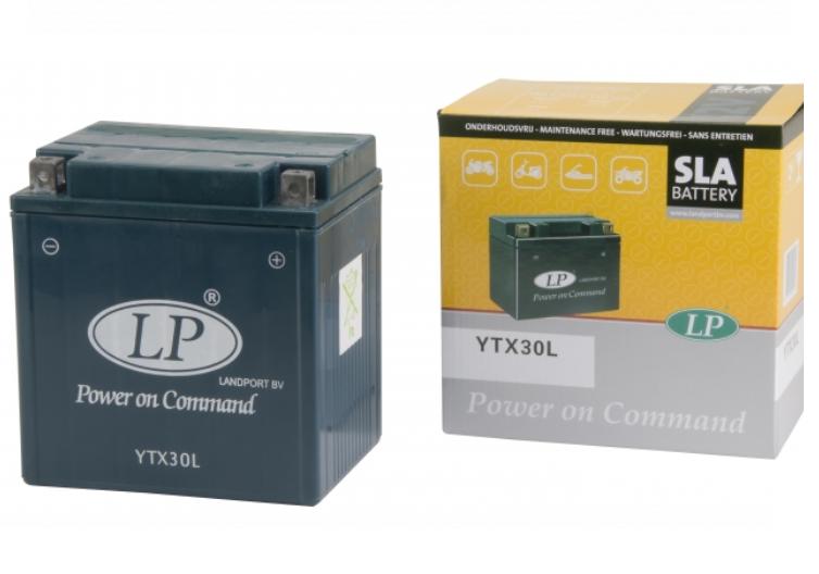 SLA YTX30L motor accu Landport 12V 30Ah