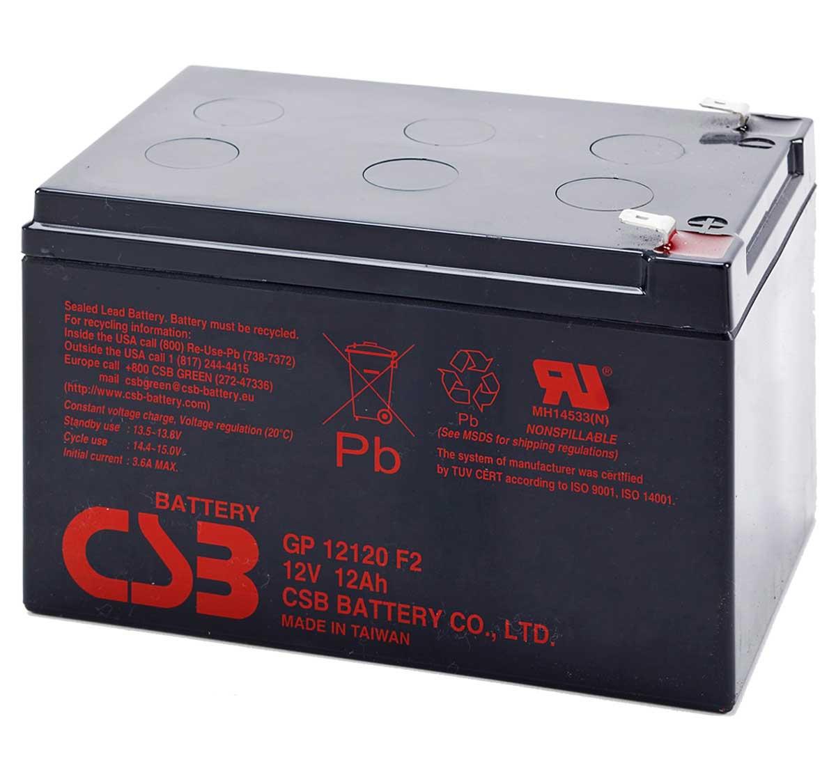 UPS noodstroom accu 1 x GP12120F2 van CSB Battery
