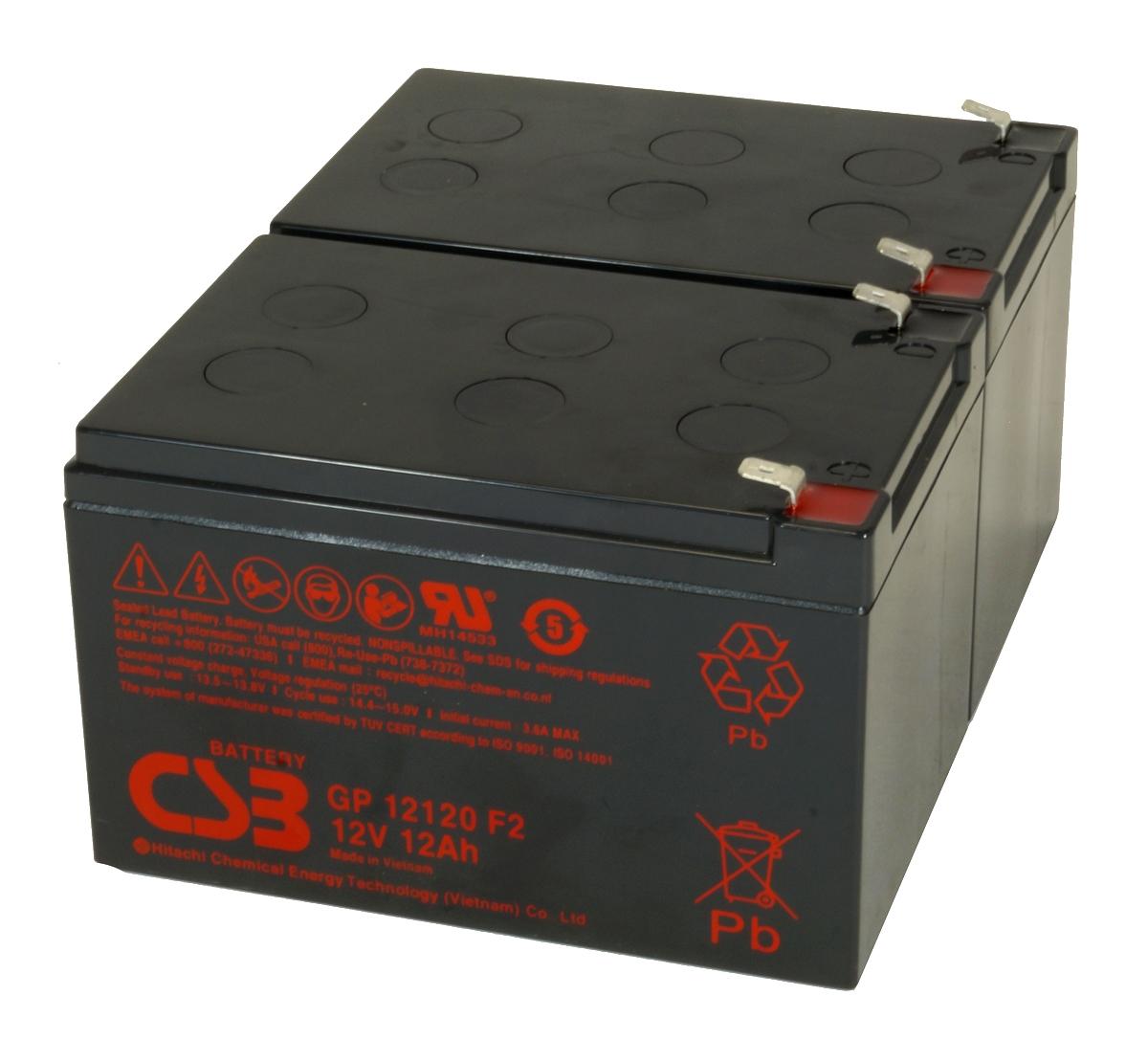 UPS noodstroom accu 2 x GP12120F2 van CSB Battery