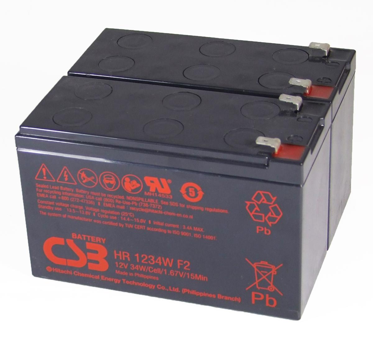 UPS vervangings batterij 2 x HR1234WF2 CSB Battery