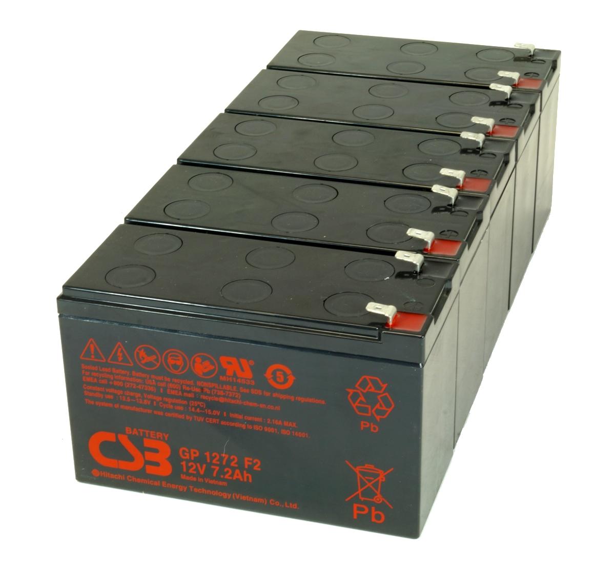 UPS vervangings batterij 5 x GP1272F2 CSB Battery