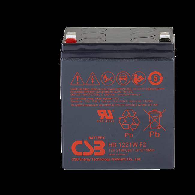 UPS noodstroom accu 3 x HR1221WF2 van CSB Battery