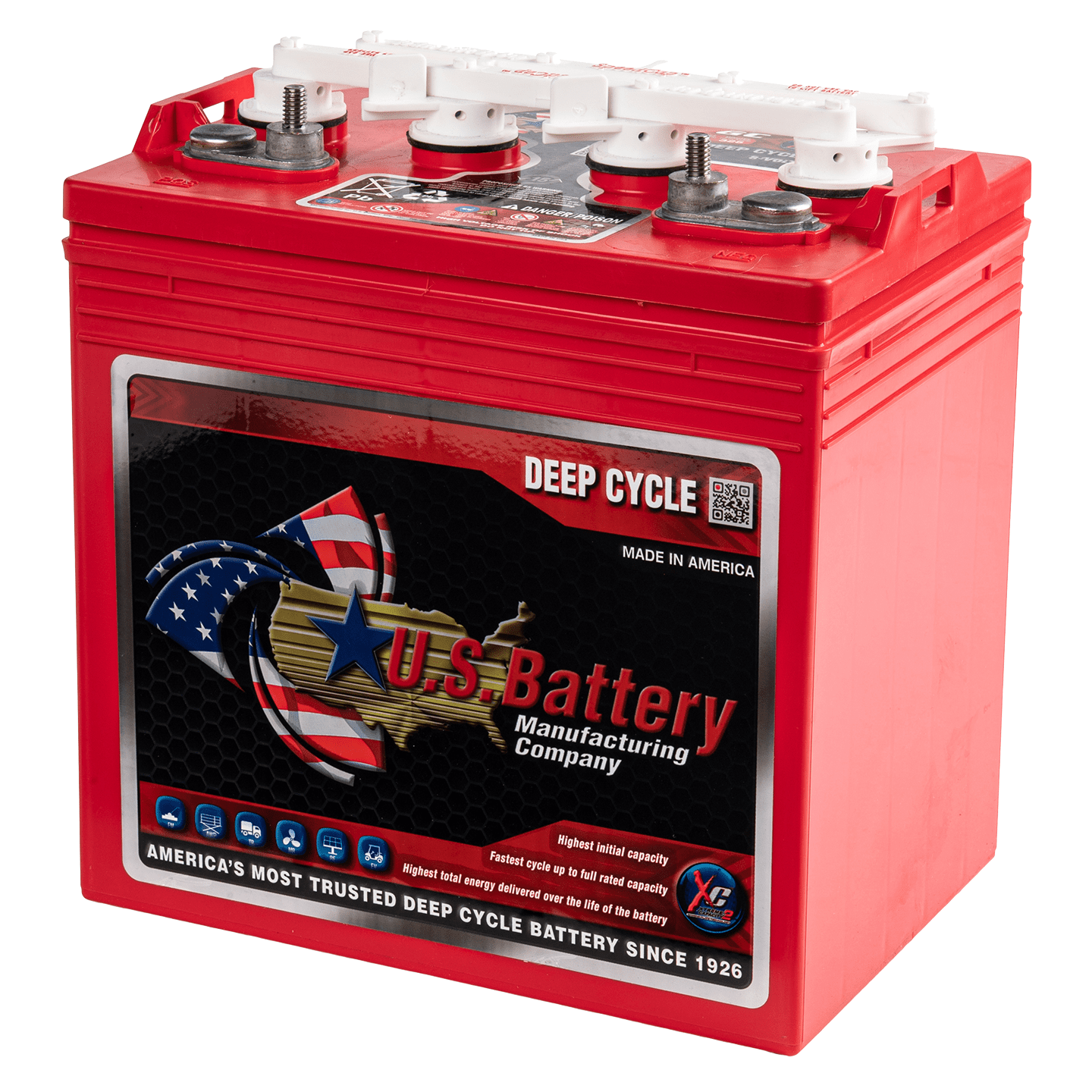 US Battery Deep Cycle accu 8V 170Ah - Type US 8VGC