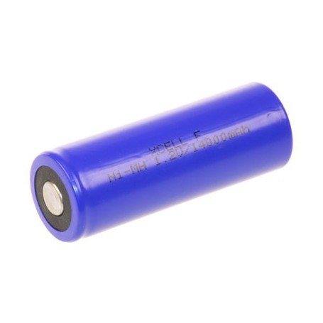 NiMH F batterij (3/2D) 1,2V 14000mAh