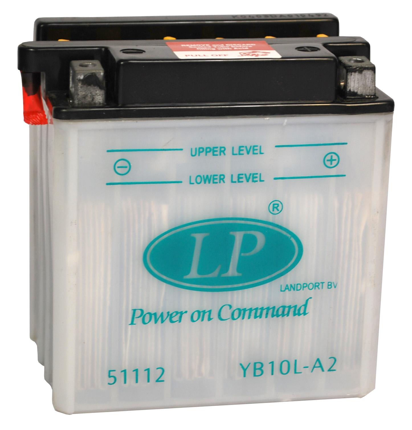 YB10L-A2 motor accu met zuurpakket